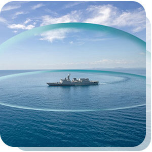 IRST panoramic bubble protecting ship from threats