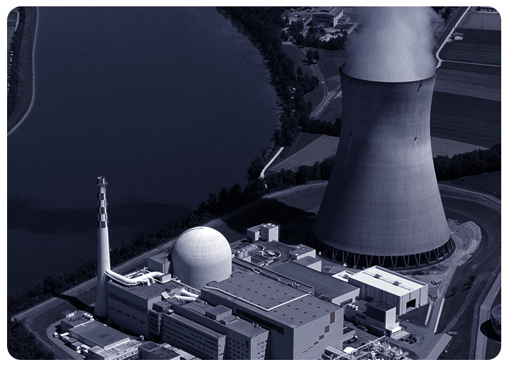 Critical infrastructure nuclear cooling tower surveillance