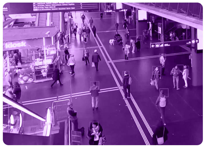 Crowd_temperature_detection_monitoring in an airport
