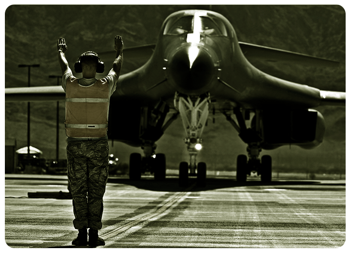 Military air base security